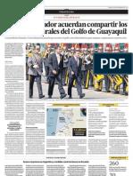 El Perú y Ecuador acuerdan compartir los recursos naturales del Golfo de Guayaquil