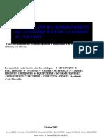 Materiel College Aix-marseille Fev07