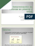 Determinación de Cetonas en plasma y orina