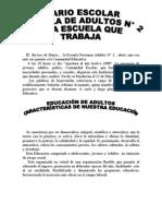 DIARIO DE LA ESC.ADULTOS N°2
