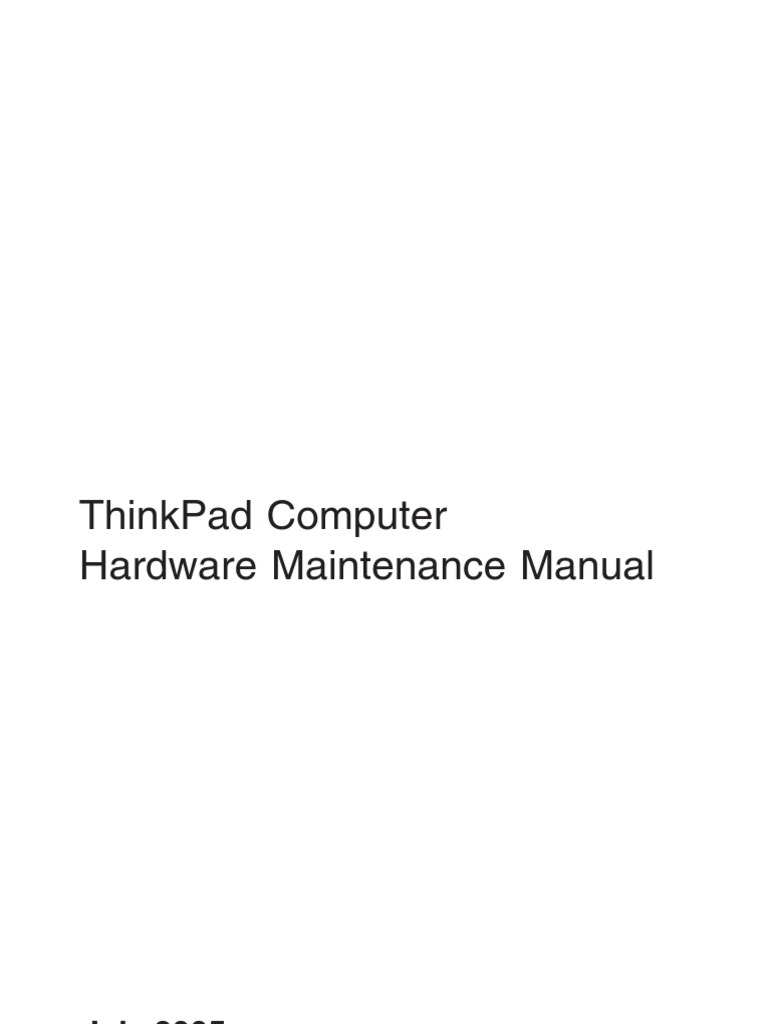 Thinkpad T43 Hardware Service Manual | Electrostatic Discharge | Floppy Disk