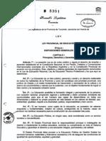 Ley de Educacion Provincial-8391-29122010