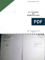 Hanna Fenichel Pitkin. El concepto de representación (Madrid, 1985)