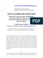 Carlos Arcos Cabrera -- ¡NO ES JARDÍN DE INFANTES!