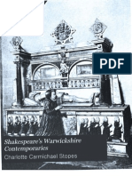 Shakespeare's Warwickshire Contemporaries by Charlotte Carmichael Stopes (1929)