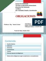 Obligaciones. Codigo Civil venezolano.