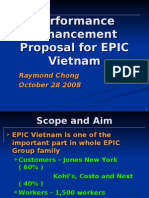 Performance Enhancement Proposal for EPIC Vietnam