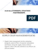 Scm Realtionship and Partnership