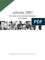 informe - el estado de los derechos humanos en el mundo 2007 - amnistia internacional