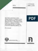 Norma COVENIN 2000 2 99 Edificaciones Parte 2