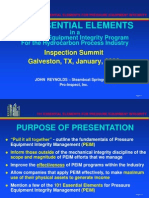 101 Essential Elements in Pressure Equipment Integrity Porgrams John Reynolds