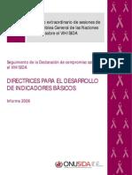periodo extraordinario de sesiones de la asamblea general de las naciones unidas sobre el vih-sida - 2007 - onusida - 20070712_core_indicators_manual_es