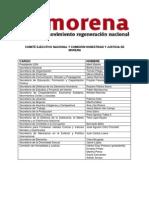 Lista Del Cen y Honestidad Morena
