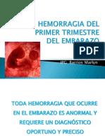 hemorragia 1er trimestre