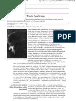 Aprendiendo a ser María Zambrano _ Cultura _ EL PAÍS