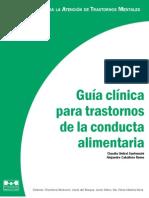 Guía clínica para trastornos de conducta alimentaria