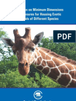 Guidelines on Minimum Dimensions of Enclosures for Housing Exotic Animals of Different Species - Naresh Kadyan