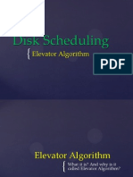 Operating System - Elevator Algorithm