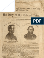 Union Republican Congressional Committee--The Party of Freedom and Its Candidates--The Duty of the Colored Voter (1868)