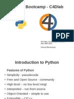 Python Bootcamp Slides