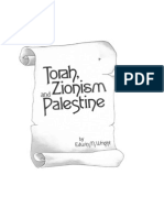 Torah, Zionism and Palestine