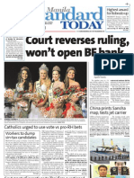 Manila Standard Today -- Monday (November 26, 2012) issue