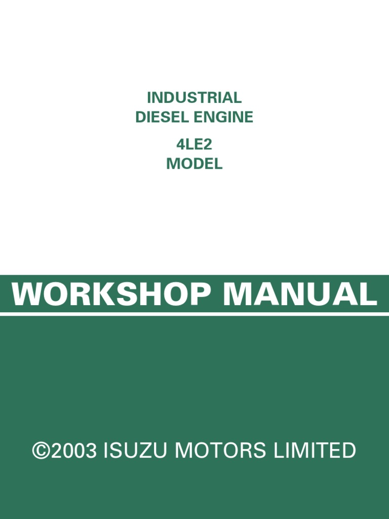 Isuzu 4le1 Wiring Diagram 3cb1 Engine 08 4le2 Gb Piston Cylinder Injector