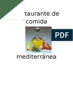 Restaurante de comida mediterránea