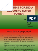 Blueprint for India Becoming Super Power