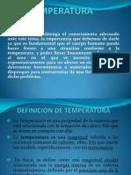TEMPERATURA Exposicion Ergonomia