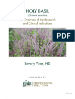A Research Review of Holy Basil
