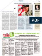 Associazione Comunità, giornale L'Adige 25 novembre 2012, pagina 20