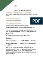 acidos polihidratados