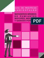 GUÍA DE PRÁCTICAS AMBIENTALES - MATADEROS DE RUMIANTES