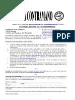 Convocatoria Asamblea A Contramano 08/02/2009
