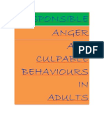 Responsible Anger and Culpable Behaviours