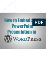 How to Embed a PDF Powerpoint Presentation in WordpPress