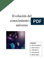 (INFORME)Evolución del conocimiento del universo