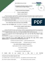 Avaliação bimestral de Língua Portuguesa - Fátima Gaiotto Sampaio