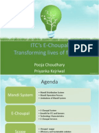 itc e choupal case study analysis Corporate social responsibility through knowledge leadership in india: itc ltd and yc deveshwar is used as the operational definition for the analysis of the itc case in this study university of michigan business school case study on e-choupal.
