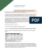 Stock Market Barometer of Economy