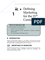 Topic 1 Defining Marketing for the 21st Century