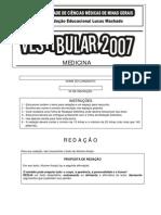 FCMMG 2007 Prova Medicina