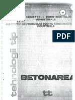 Betonarea - Ministerul Constructiilor Industriale
