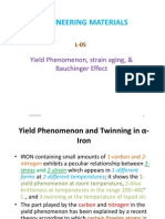 Lec5-Yield Phenomenon, Strain Aging, & Bauchinger Effect
