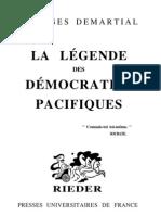 Demartial Georges La Légende des démocraties pacifiques
