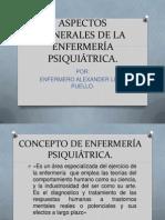 ASPECTOS GENERALES DE LA ENFERMERÍA PSIQUIÁTRICA