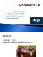 BMD 451 – MANDARIN(L3)