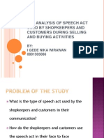 Speech Act Analysis