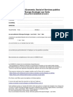 Commission Economie bulletin adhésion